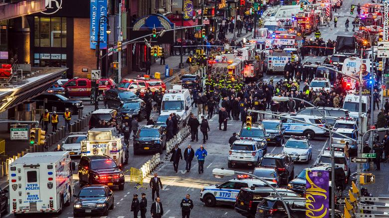 Explosions reported at subway station in Times Square