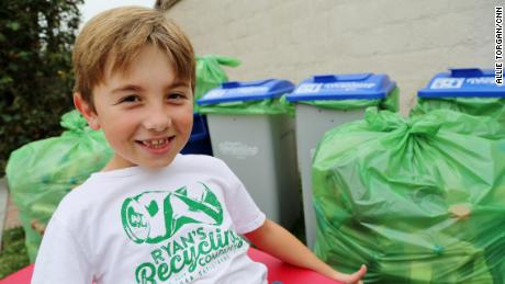 Ryan Hickman Ryan's Recycling---recycling program run by young environmentalist San Juan Capistrano, CA