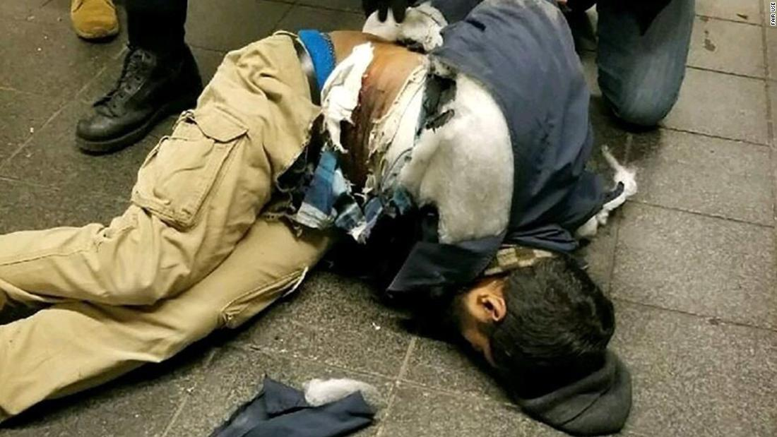 "According to two law enforcement sources, this photo shows Akayed Ullah, the suspect in <a href=""http://www.cnn.com/2017/12/11/us/ny-suspect-what-we-know/index.html"" target=""_blank"">a pipe-bomb explosion</a> that happened at a bus terminal in New York City on Monday, December 11. Ullah, 27, faces five federal terrorism-related charges and three state terrorism-related charges, according to court documents. He was one of six people injured in the blast."