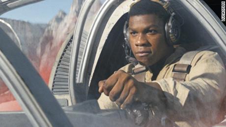 John Boyega in 'Star Wars: The Last Jedi'