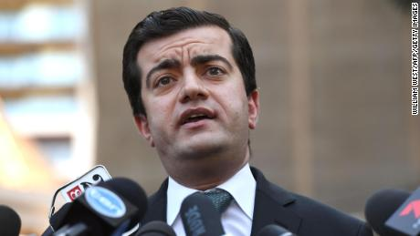 Australian Labor Party's Senator Sam Dastyari speaks to the media in Sydney on September 6, 2016, to make a public apology after asking a company with links to the Chinese Government to pay a 1,273 USD bill incurred by his office. Dastyari told reporters he made a mistake, but had not been asked to resign and would not tender his resignation. / AFP / WILLIAM WEST        (Photo credit should read WILLIAM WEST/AFP/Getty Images)