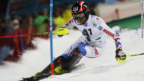 Slalom skier Alexandr Khoroshilov is one of 200 Russian athletes still hoping to compete in South Korea
