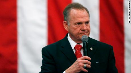 U.S. Senate candidate Roy Moore speaks at a campaign rally, December 11 in Midland City, Alabama.