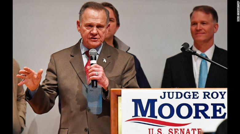 Trump criticises Roy Moore after Alabama loss