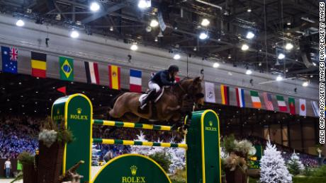 GENEVA, SWITZERLAND - DECEMBER 10:  Kent Farrington of the United States on Gazelle rides for the victory during the Rolex Grand Prix, part of the Rolex Grand Slam of Show Jumping at CHI Geneva, at Palexpo on December 10, 2017 in Geneva, Switzerland.  (Photo by Alex Caparros/Getty Images)
