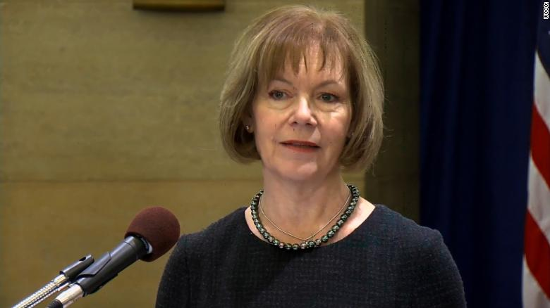 Tina Smith introduced as Franken's replacement