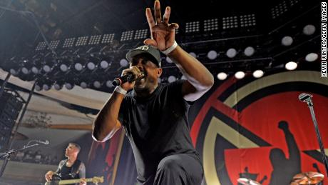 Chuck D of Prophets of Rage performs onstage at Hollywood Palladium on June 3, 2016 in Los Angeles, California.
