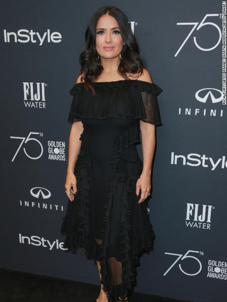 WEST HOLLYWOOD, CA - NOVEMBER 15:  Salma Hayek attends the Hollywood Foreign Press Association and InStyle celebrate the 75th Anniversary of The Golden Globe Awards at Catch LA on November 15, 2017 in West Hollywood, California.  (Photo by Rich Fury/Getty Images)