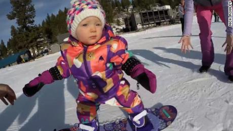 title: 1 Year Old Snowboarder Cash Rowley duration: 00:02:36 site: Youtube author: null published: Mon Dec 11 2017 18:14:44 GMT-0500 (Eastern Standard Time) intervention: yes description: Cash Rowley's first time on the slopes just 2 days before her 1st birthday. We took her up to Bogus Basin Mtn Resort on December 9th 2017 so she could strap in for her first time EVER!   To use this video in a commercial player or in broadcasts, please email nickrayrowley@gmail.com
