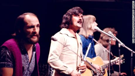 UNITED KINGDOM: Photo of MOODY BLUES performing on TOP OF THE POPS, 22nd August 1971. (Photo by Ron Howard/Redferns)