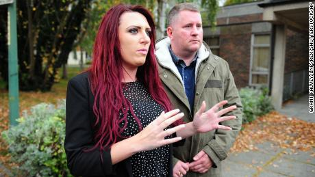 Britain First leader Paul Golding and Deputy Leader Jayda Fransen, pictured in October, face court action.