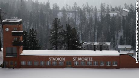 ST MORITZ, SWITZERLAND - FEBRUARY 07:  General view of the Olympic Stadium in St Moritz on February 7, 2015 in St Moritz, Switzerland.  (Photo by Matthias Hangst/Bongarts/Getty Images)