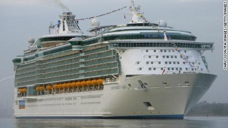 The world's largest cruise ship, the Independence of the Seas  arrives in the UK for the first time today in Southampton. The huge 160,000 tonne vessel will operate throughout the rest of the year from the city. The 400 million ship, which has been built by Royal Caribbean International, is the joint biggest cruise liner along with her sister ships Freedom of the Seas and Liberty of the Seas.   (Photo by Chris Ison - PA Images/PA Images via Getty Images)