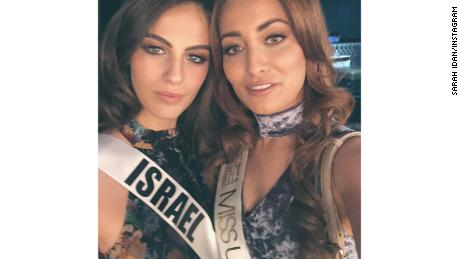Miss Iraq's family forced to flee after selfie with Miss Israel