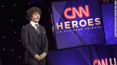 NEW YORK, NY - DECEMBER 17: Gaten Matarazzo speaks onstage during CNN Heroes 2017 at the American Museum of Natural History on December 17, 2017 in New York City. 27437_016  (Photo by Mike Coppola/Getty Images for CNN)