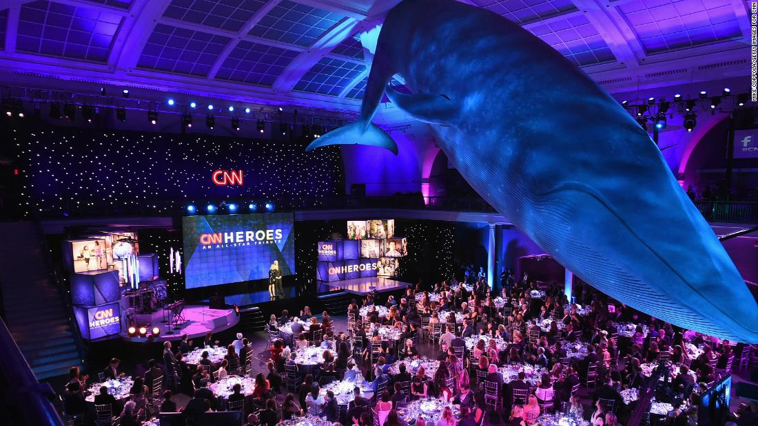 "A view of the audience during the 2017 ""CNN Heroes All-Star Tribute"" at the American Museum of Natural History in New York."