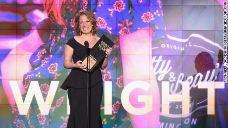 NEW YORK, NY - DECEMBER 17: 2017 CNN Hero of the Year Amy Wright speaks onstage during CNN Heroes 2017 at the American Museum of Natural History on December 17, 2017 in New York City. 27437_017  (Photo by Michael Loccisano/Getty Images for CNN) *** Local Caption *** Amy Wright