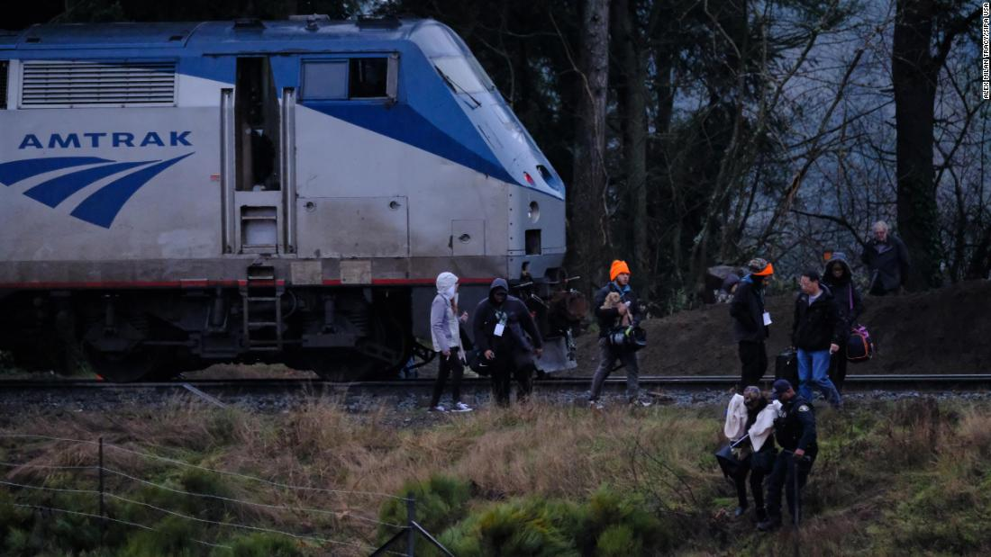 The train had 86 people aboard, including crew members.
