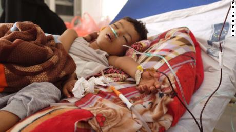 Three-year-old Khadir suffers from a lung infection in an understaffed and overwhelmed hospital in Aden. He died the day after CNN's visit. Doctors say his death was preventable.