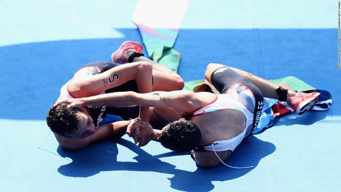 After crossing the line in Rio, the siblings embraced as they lapped up the enormity of the result.