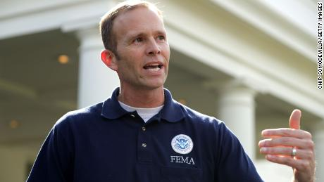 FEMA chief Brock Long, photographed after a meeting at the White House, says FEMA staffers aren't and shouldn't be first responders.