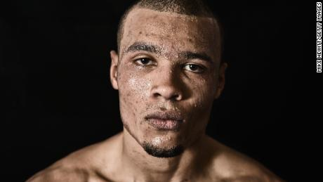 BRIGHTON, ENGLAND - NOVEMBER 14:  (EDITOR'S NOTE: DIGITAL FILTERS HAVE BEEN USED ON THIS IMAGE) Chris Eubank Jnr poses for a portrait after a training session at the Brighton and Hove Boxing Club on November 14, 2014 in Brighton, England.  (Photo by Mike Hewitt/Getty Images)