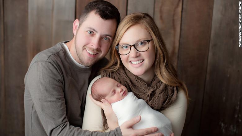 Benjamin and Tina Gibson with daughter Emma.