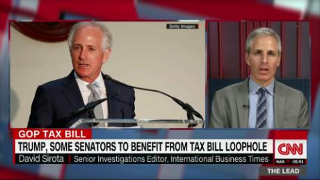 Lead Sirota gop senators benefiting from tax bill live_00015611.jpg