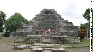 The Chaccoben Mayan Ruins.