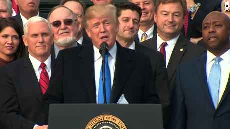 Trump celebrates GOP tax victory