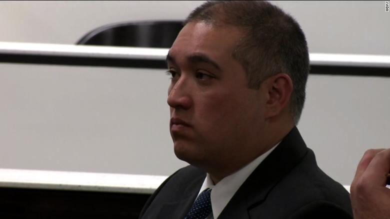 Michigan State Trooper Mark Bessner at his arraignment on Thursday.
