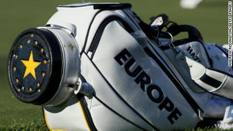 European Union flag was displayed on bottom of Team Europe's 2016 bag