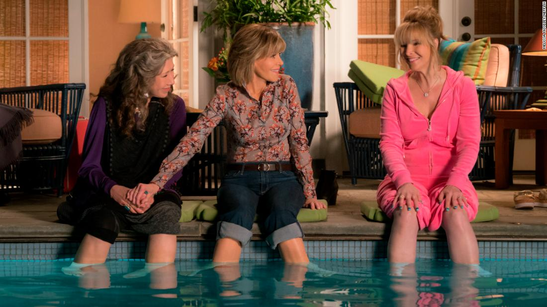 "<strong>""Grace and Frankie"" Season 4 : </strong>Jane Fonda and Lily Tomlin return in the show about two women who are thrust together after their husbands admit they have been lovers for years. <strong>(Netflix)  </strong>"
