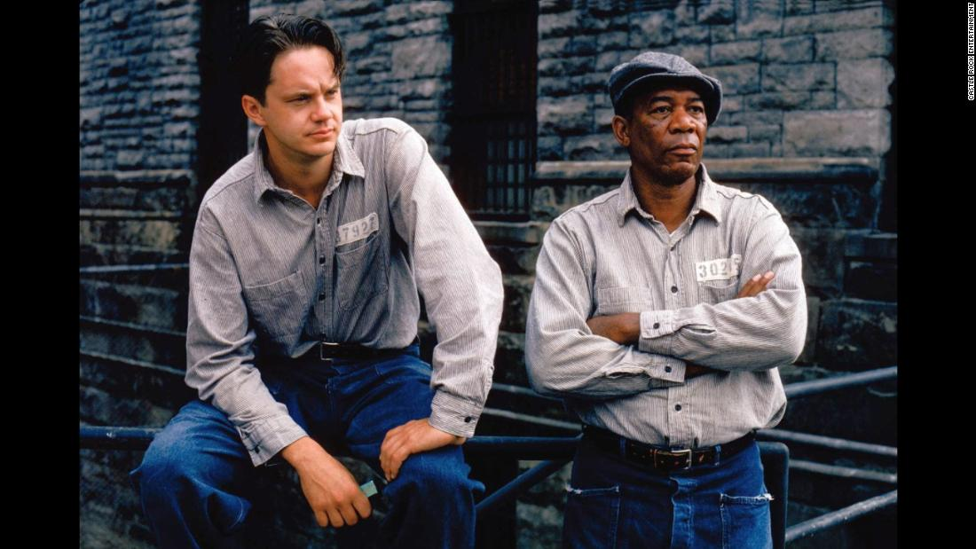 "<strong>""The Shawshank Redemption""</strong>: Tim Robbins and Morgan Freeman strike up a friendship in this 1994 drama, which was based on a Steven King novella. <strong>(Netflix) </strong>"