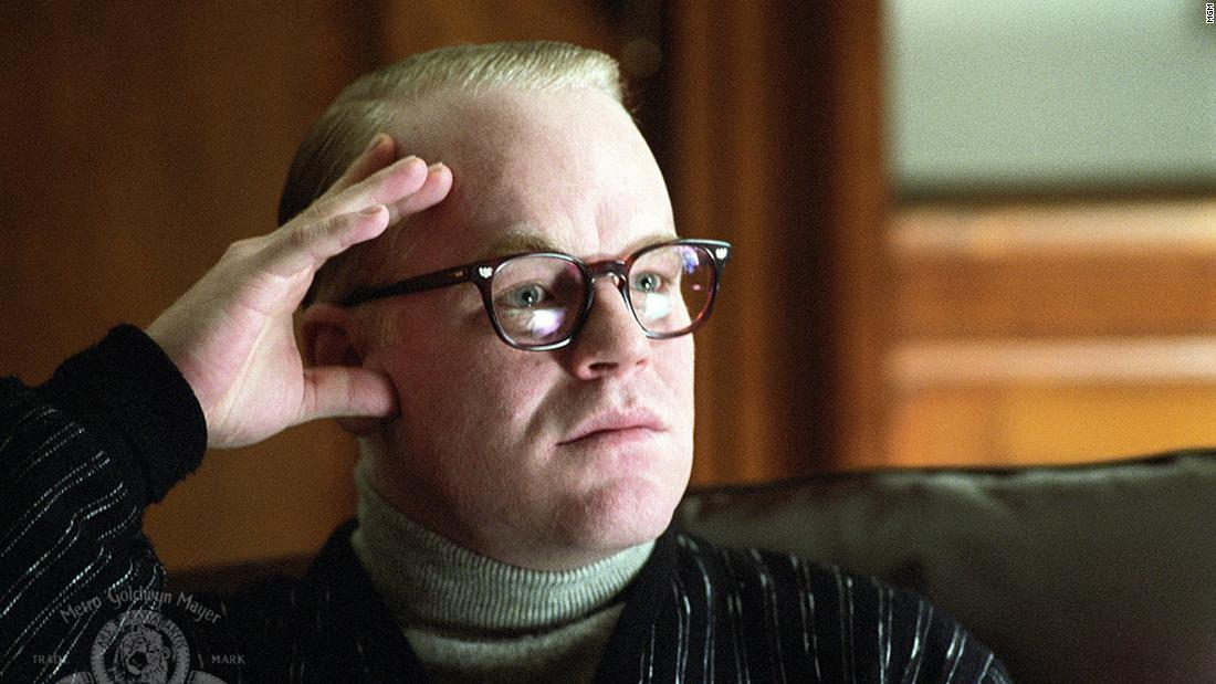 "<strong>""Capote""</strong>: Philip Seymour Hoffman won a best actor Academy Award for his portrayal of writer Truman Capote in this 2005 biographical film.  <strong>(Amazon Prime, Hulu) </strong>"