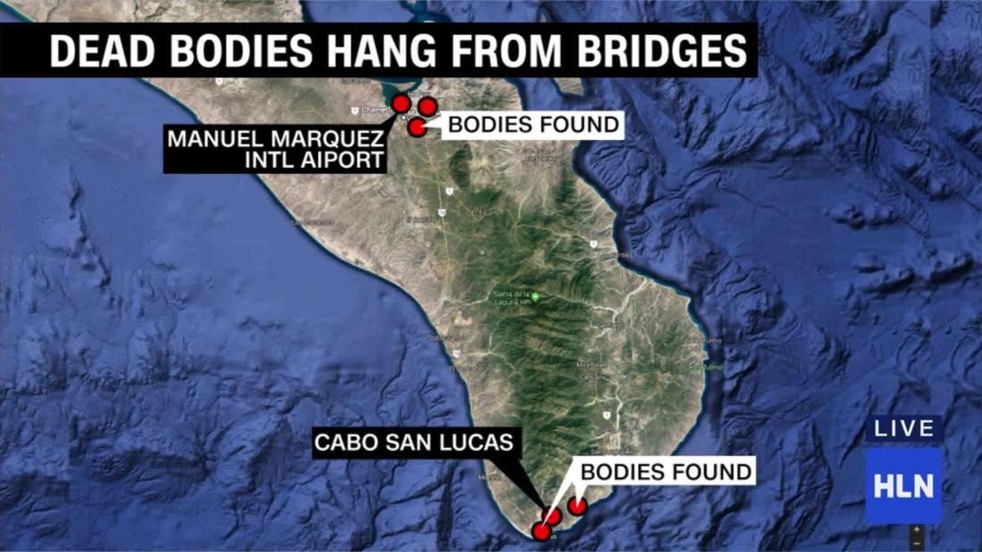 6 bodies found hanging near Mexican resort
