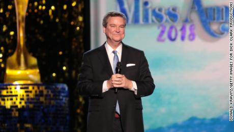 ATLANTIC CITY, NJ - SEPTEMBER 08:  Executive Chairman Sam Haskell, III  speaks on stage during Miss America 2018 - Third Night of Preliminary Competition at Boardwalk Hall Arena on September 8, 2017 in Atlantic City, New Jersey.  (Photo by Donald Kravitz/Getty Images for Dick Clark Productions)