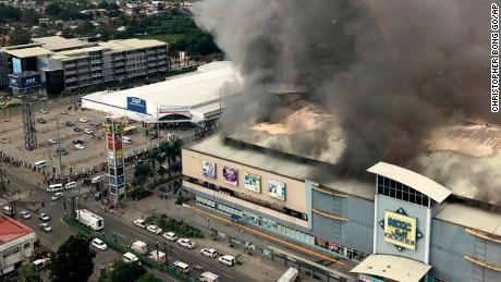 Thirty-seven feared dead after shopping mall fire in Philippines