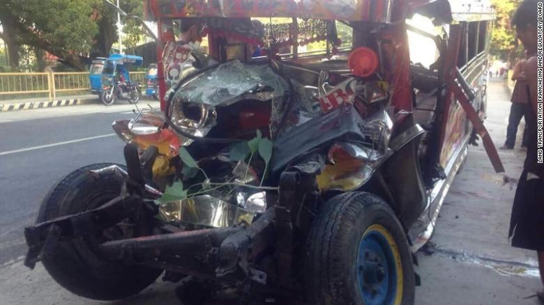 Twenty Catholic pilgrims were killed and nine others injured after a jeepney collided with a bus in the northern Philippines, according to police.