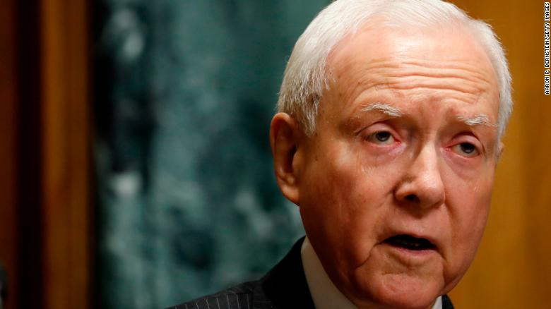 WASHINGTON DC- SEPTEMBER 14 Sen. Orrin Hatch speaks at a tax reform hearing before the Senate Finance Committee on Capitol Hill
