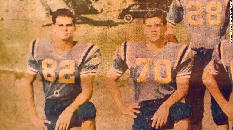 Walter Macfarlane, left, and Alan Robinson at Honolulu's Punahou School.