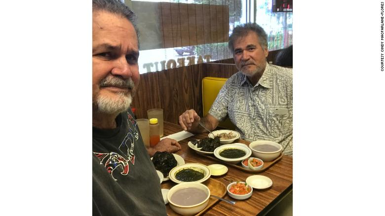 The brothers shot a selfie at one of their many lunches together.