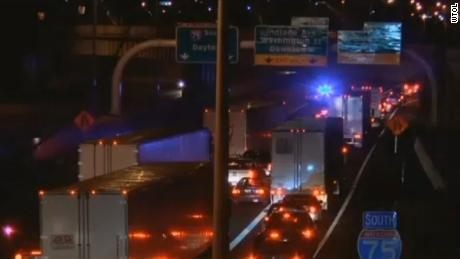 The incident occurred on Interstate 75 in downtown Toledo.