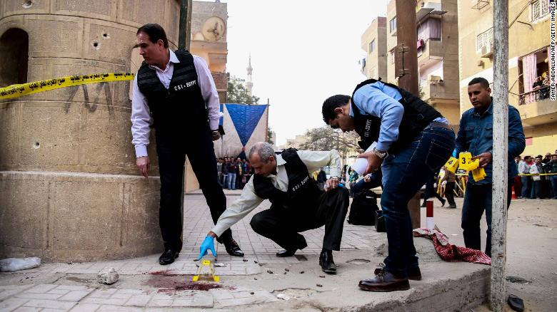 Gunman opens fire on Cairo church; shootout kills at least 9