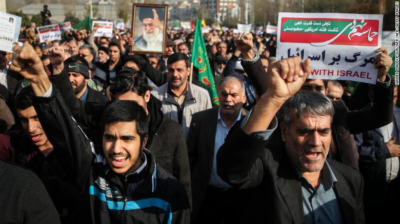Now pro-government marchers have their say in Iranian cities