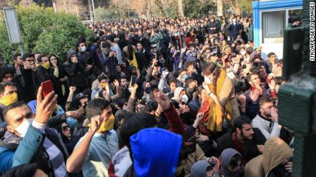 The majority of protesters in the demonstrations appeared to be young Iranians.