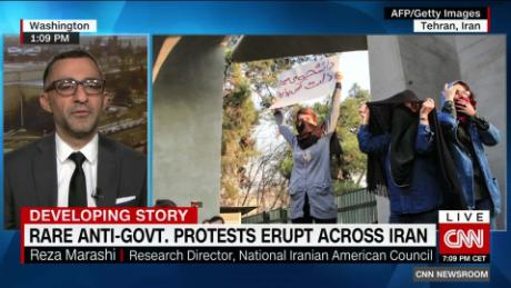 Protests continue for a third day in Iran