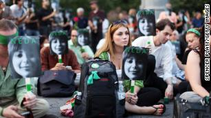 A July 2009 gathering in New York remembers Neda Agha-Soltan, who died in Tehran protests.