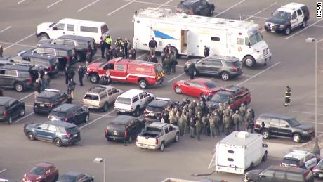 LIVE aerials over Highland Ranch, CO in Douglas County where police are responding to calls of an officer down