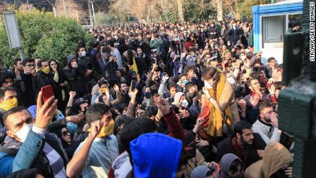 Protests turn violent in Iran